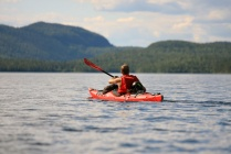 Overnight kayaking trip on Inari lake