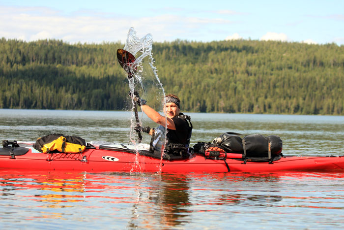 Kayaking adventure on Inari Lake (6 hours trip)